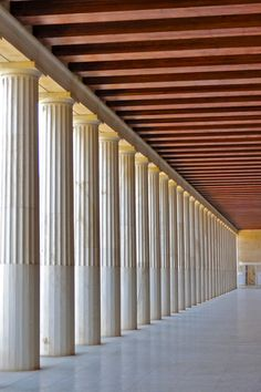 Stoa of Attalos in the Ancient Agora, Athens, Greece