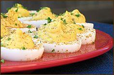easter brunch ideas: BBQ deviled eggs