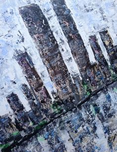 """ARTFINDER: """"Reflection"""" (Large) by Lucy Moore - I Will Ship globally, please message me for prices This piece is my abstract city scape of Manhattan, I painted this and included the twin towers, the tit..."""