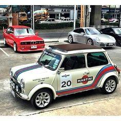 from - Mini Martini. Owner: Love it Share it Like it. Mini Cooper Custom, Mini Cooper Classic, Classic Mini, Classic Cars, My Dream Car, Dream Cars, Mini Morris, Austin Cars, Gt Turbo