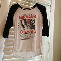 nirvana baseball tee from cotton on, 3/4 sleeves. very good condition, only worn once. very comfortable! Cotton On Tops