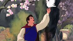 Screencap Gallery for Snow White and the Seven Dwarfs Bluray, Disney Classics). A beautiful girl, Snow White, takes refuge in the forest in the house of seven dwarfs to hide from her stepmother, the wicked Queen. Aurora Disney, Walt Disney, Pocahontas Disney, Rapunzel Disney, Disney Men, Disney Couples, Disney Love, Disney Pixar, Disney Films