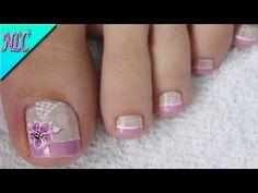 Pedicure Designs, Pedicure Nail Art, Toe Nail Art, Manicure, Nail Designs, Love Nails, Pretty Nails, Nail Polish, Pink