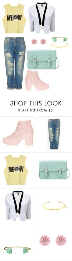 """""""Trendy pastels"""" by momockapai ❤ liked on Polyvore featuring Topshop, Forever 21, Kurt Geiger and Jules Smith"""