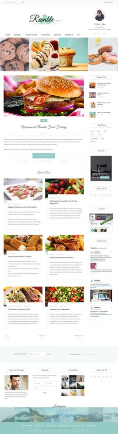 Ramble-Grid - A Responsive #Ghost Blog Theme.  Ramble is suitable for any kind of Photography, personal, travel, hobby, lifestyle etc. #food #recipe #blogger