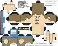 Walking Dead Daryl paper cube craft lolololol
