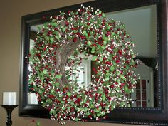 Red and White Berry Wreath will add holiday cheer where ever it is placed.  H201231  http://qvc.co/ShopValerie