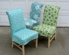 I need chair covers for my dining room! Parsons Chair Slipcover PDF format Sewing Pattern Tutorial