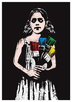 Dolk - Paintbrush Girl
