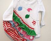 Christmas Candy - Wrap around ruffle diaper covers - baby girl childrens clothing.