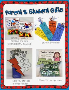 Superhero themed parent and student gifts from I Learn! What's Your Superpower? end of year pack$.