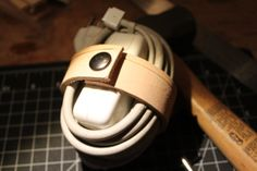 Handmade Leather Cord Wrap