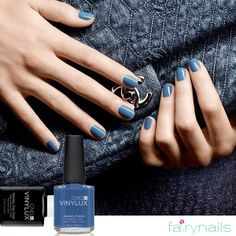Match your jeans with a deep blue manicure at Fairynails!