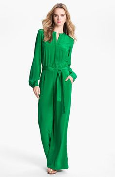Rachel Roy Silk Jumpsuit. This screams me and @Meghan McEwan, lounging in these in our own design studio ala Designing Women.