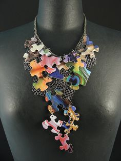 Puzzle Piece Necklace - do something simpler with Disney puzzles, using jump rings. How to coat pieces?
