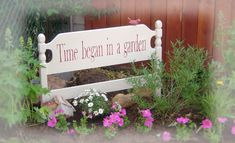 love the up-cycled headboard/footboard sign ~ from Tracey Baxton's Notes From A Cottage Industry