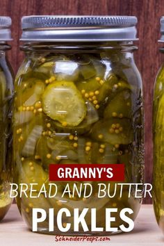 Old fashioned bread and butter pickles - just like grandma used to make - Bread and butter pickles are a sweet and tangy pickle that is so delicious it deserves a place in t - Cucumber Canning, Canning Pickles, Cucumber Recipes, Cucumber Pickle Recipe, How To Pickle Cucumbers, Canning Pears, Bread And Butter Pickle Canning Recipe, Bread & Butter Pickles, Homemade Bread And Butter Pickles Recipe