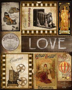 Digital Ephemera Vintage Camera and Cinema by ArtsyBeeImages