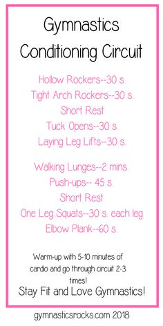 Essential Conditioning List and Timed Gymnastics Conditioning Circuit – Gymnastics Rocks! Gymnastics At Home, Gymnastics Coaching, Gymnastics Workout, Gymnastics Girls, Gymnastics Stuff, Gymnastics Conditioning, Conditioning Workouts, Lunges, Squats