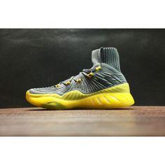wholesale dealer 11ffb 26282 Adidas Crazy Explosive Schuhe Kaufen - Billige adidas Crazy Explosive 2017  Primeknit Grau Gelb Schuhe Günstig