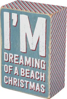 Dreaming Of A Beach Christmas Box Sign