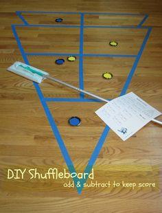 Indoor target games - Relentlessly Fun, Deceptively Educational: DIY Shuffleboard Showdown