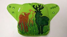 Deer in a Field One Size Cloth Pocket Diaper by BuzzyBooty on Etsy