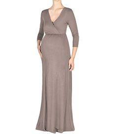 d596bcbbf8754 Beachcoco Maternity Women s V-Neck Sleeve Nursing Maxi Dress (M