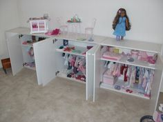 AG Closet - we are out of this phase but I'm pinning for my friends still in it.  I spent a lot of time trying to organize all those clothes and accessories over the years!