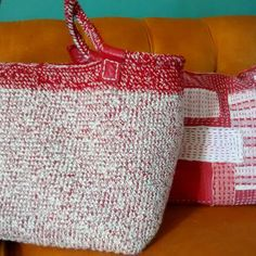 Red bag and pillow #red #totebag #pillowtalk #accessories