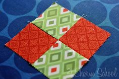 Tutorial: How to make a perfect four-patch quilt block on The Studio Blog by April Rosenthal