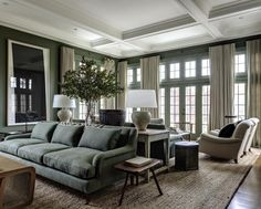 When I stumbled upon these photos of Edie Parker founder Brett Heyman's home I immediately wanted to cover my walls in dark green paint. Published on One Kings Lane, the accessories designer&…