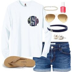 Vineyard vines fabric long sleeve circle monogram t-shirt on Etsy, $22.00