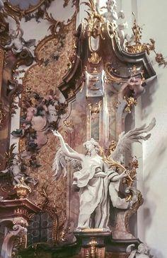 Kloster Ottobeuren arch : Johann Michael Fischer sculpt : Feuchtmayer Source by davidhmitchell Angel Aesthetic, Aesthetic Art, Aesthetic Pictures, Aesthetic Drawing, Travel Aesthetic, Aesthetic Grunge, Aesthetic Vintage, Aesthetic Anime, Architecture Baroque