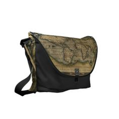 Vintage World Map Atlas Historical Design Commuter Bags