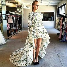 First look: absolutely stunning @giambattistapr dress from yesterday's market appointment. Coming to BG this fall.