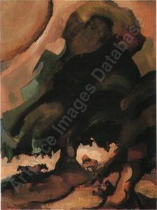 Landschap. 1928, 81 x 60 cm Edmond BELLEFROID