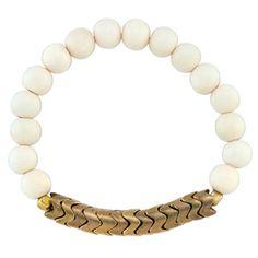 chumash white bracelet