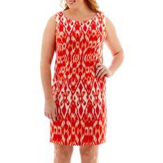 Alyx® Sleeveless Ikat Print Sheath Dress - Plus  found at @JCPenney