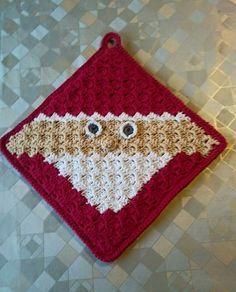 Jul corner to corner C2c, Crochet Home, Granny Squares, Pot Holders, Crochet Patterns, Xmas, Textiles, Calendar 2017, Advent Calendar