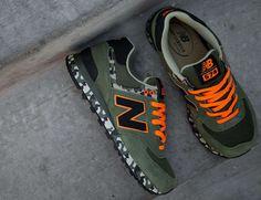 New Balance: Camo Green Army Orange Limited 2013 Summer Men Shoe 574
