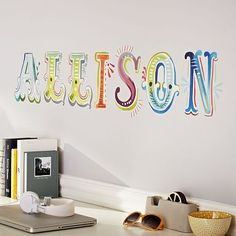 Watercolor Letters Decal #pbteen #katiedaisy