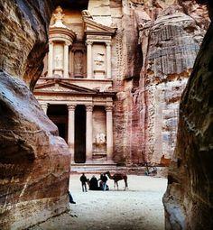 I want to visit this place.  Petra, Jordan