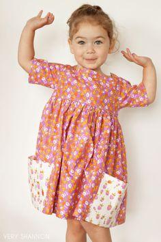 Sally Kleid nähen Muster Größe 2 t-8 Vintage Modern von VERYSHANNON