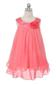 2ed2f90b5b0 BNY Corner Double layer Chiffon Big Girls¡¯ Flower Girls Dresses Lovely  Wedding Coral