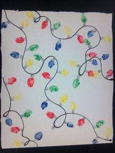 Fingerprint Christmas lights my class done.