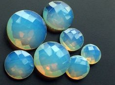 Fire Opalite Cabochons Opalite Round Loose by gemsforjewels