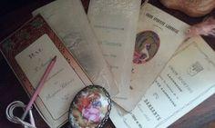 Les trouvailles... carnets de bal des années 1920 de ma grand-mère Juliette (hé oui, hommage à elle)