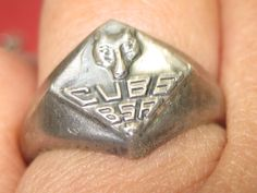 M-8 Vintage Ring size 7 sterling silver by HipTrends2015 on Etsy