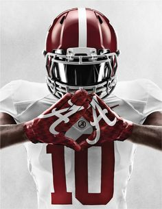 Nike unveils new Alabama Unis for the BCS championship game. Roll Tide.